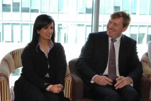 Muna Al Gurg and HRH Willem-Alexander of the Netherlands